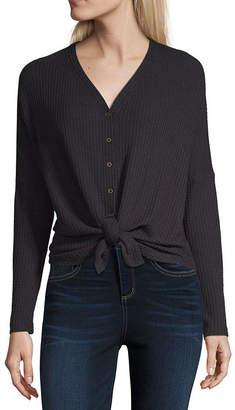 A.N.A Long Sleeve V Neck T-Shirt-Womens
