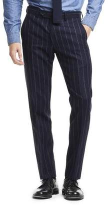 Todd Snyder Black Label Made in USA Wool Chalk Stripe Suit Trouser in Navy