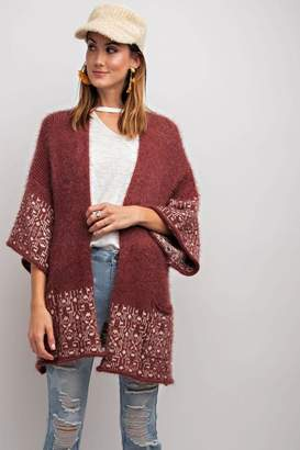 Easel Cozy Mohair Cardigan