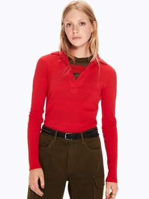 Scotch & Soda Rib Knitted V-Neck T-Shirt