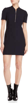 Maje Quarter-Zip Sheath Dress
