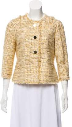 Tory Burch Collarless Tweed Blazer