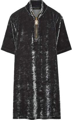 Marc Jacobs - Stretch-velvet Mini Dress - Dark gray $295 thestylecure.com