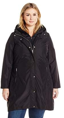Lark & Ro Women's Plus Size Bib Windbreaker