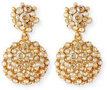 Oscar de la Renta Jeweled Flower Drop Earrings