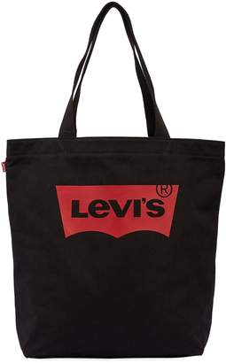 Levi's Logo Printed Cotton Canvas Tote Bag