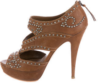 Miu Miu Miu Miu Leather Studded Booties