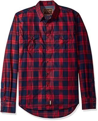 Wrangler Men's Retro Button Plaid Long Sleeve Shirt