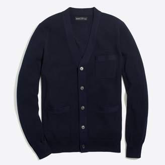 J.Crew Cotton piqué cardigan sweater