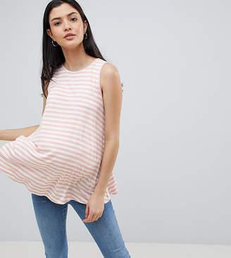 Asos DESIGN Maternity easy swing tank in stripe