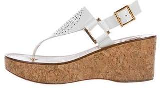 Tory Burch Leather Sandal Wedges