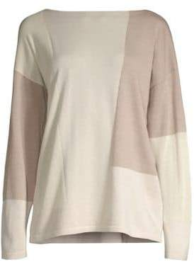 Lafayette 148 New York Wool Colorblock Sweater