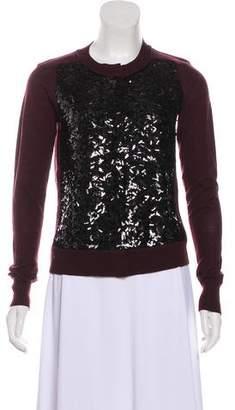 Diane von Furstenberg Sequined Wool Cardigan