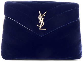 Saint Laurent Toy Velvet Monogramme Loulou Strap Bag