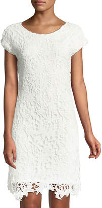 Chelsea & Theodore Crochet-Lace Sheath Dress