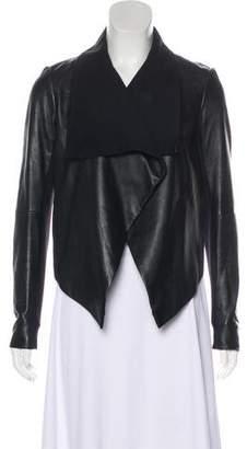 Theory Leather Asymmetrical Jacket