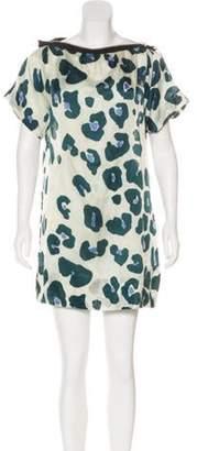 Sonia Rykiel Silk-Blend Printed Mini Dress multicolor Silk-Blend Printed Mini Dress