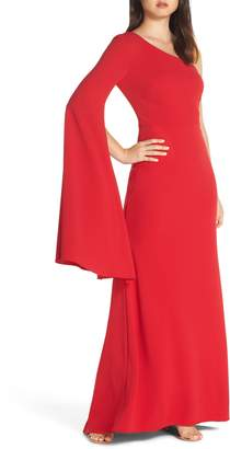 Vince Camuto One-Shoulder Gown