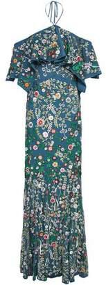 Alice + Olivia Annalea Ruffled Embellished Tulle Halterneck Gown