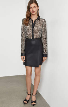 BCBGMAXAZRIA Leopard Shirt Dress