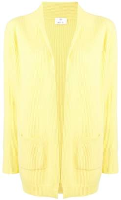 Allude ribbed draped cardigan