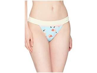 Bikini Lab THE Ready To Flamingo Banded Hipster Bottom Women's Swimwear