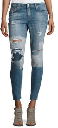 Joe's Jeans The Icon Ankle Distressed Patchwork Skinny Jeans, Joon $225 thestylecure.com