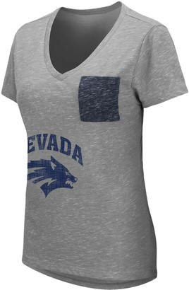 Unbranded Women's University of Nevada-Reno Wolf Pack Short Sleeve Graphic Pocket Tee
