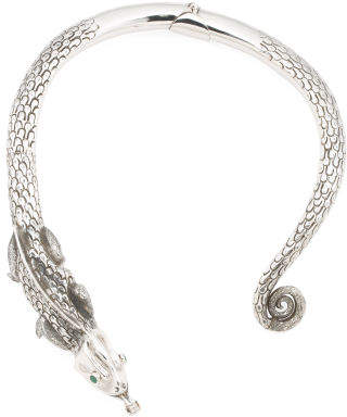 Handmade In Mexico Sterling Silver Iguana Repousse Necklace