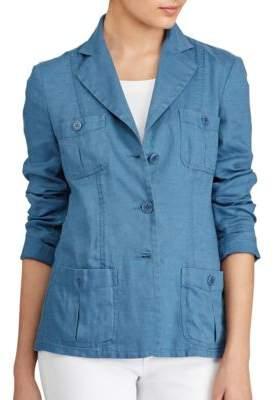 Lauren Ralph Lauren Linen Three-Button Blazer