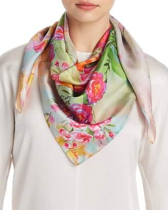 Echo Tulip Print Silk Scarf