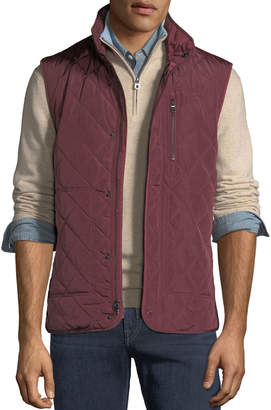 Tailorbyrd Men's Quilted Snap-Front Puffer Vest