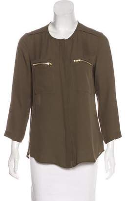 Theory Silk Button-Up Top