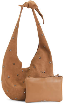 Thea Knotted Suede Hobo