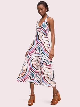 Kate Spade Geobrella Linen Halter Dress, Size 0