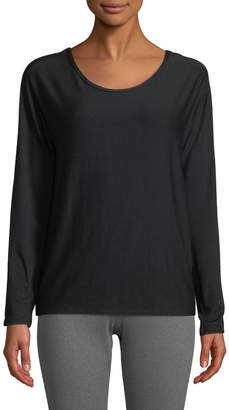Splendid Studio Cutout-Back Long-Sleeve Jersey Tee