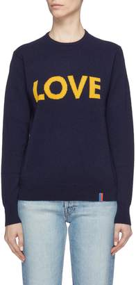 Kule 'The Love' slogan intarsia cashmere sweater