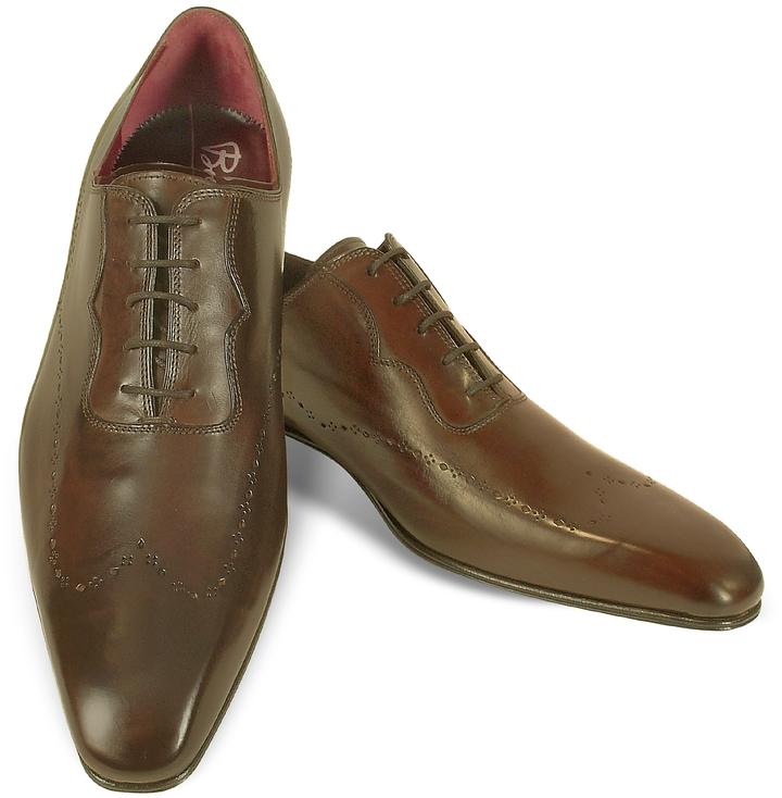fratelli borgioli handmade brown italian leather wingtip