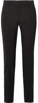 Theory Testra Wool-blend Crepe Slim-leg Pants - Black