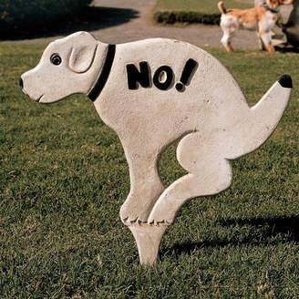 Toscano Design No Pausing Pooch Lawn Sign Garden Stake