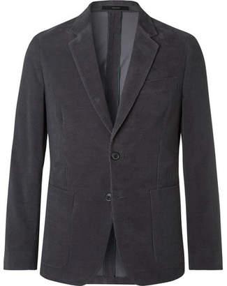 Grey Slim-Fit Cotton-Corduroy Suit Jacket