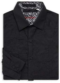 Robert Graham Textured Cotton Button-Down Shirt