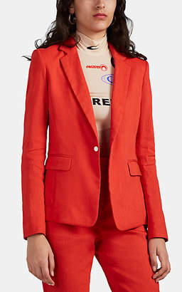 Rag & Bone Women's Lucy Linen-Blend Blazer - Red