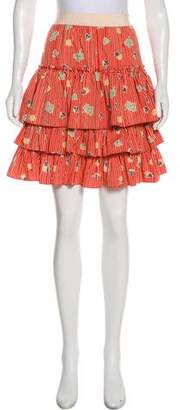 Marc by Marc Jacobs Striped Tiered Skirt