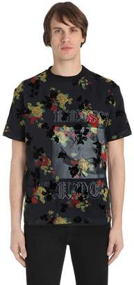 McQ Overlay Printed Cotton Jersey T-Shirt