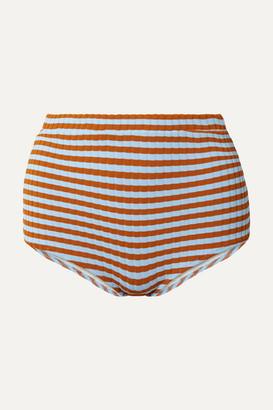 Solid & Striped Jamie Striped Ribbed Bikini Briefs - Sky blue