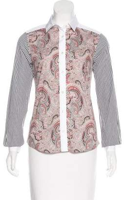 Etro Striped Paisley Top