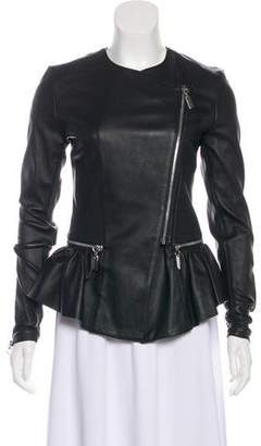 Thomas Wylde Peplum Leather Jacket