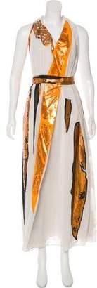Bottega Veneta Sleeveless Draped Gown