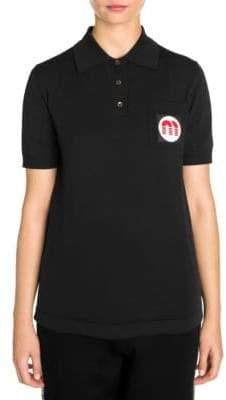 Miu Miu Knit Patch Pocket Polo Shirt